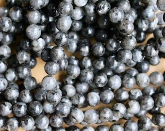 6mm Norwegian Labradorite beads, full strand, natural stone beads, round, 60083