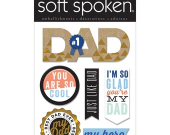 Just Like Dad Stickers by Soft Spoken, Me & My Big Ideas Stickers