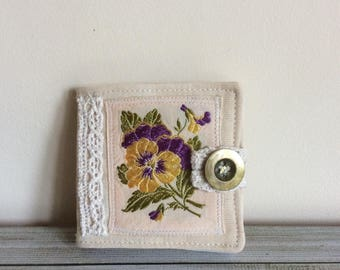 Sewing needle case, Needle Case, Needle book, Vintage embroidery, Mother's Day gift