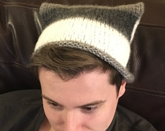 Knitted Kitty Cat Hat