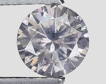 See Video - GIA Certified 0.40ctw Untreated Natural Diamond Round Fancy Gray Solitaire Loose
