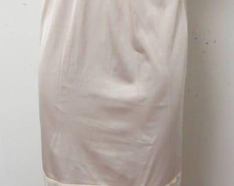 Vintage Long Formal Half Slip  Small  #016