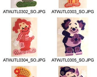 Cutwork-Clowns ( 10 Machine Embroidery Designs from ATW ) XYZ17F