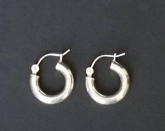 Sterling Silver Periced Earring 925  Sterling Silver Hooped Earrings