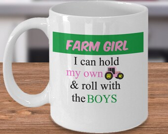 Farm Girl Mug, Country Girl Mug, Farm Girl Art, Mug for Farm Girl, Mug for Farmer Girl, Farmer Girl Gift, Farmer Girl Coffee Mug