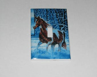 Horse Single Switch plate Light Cover