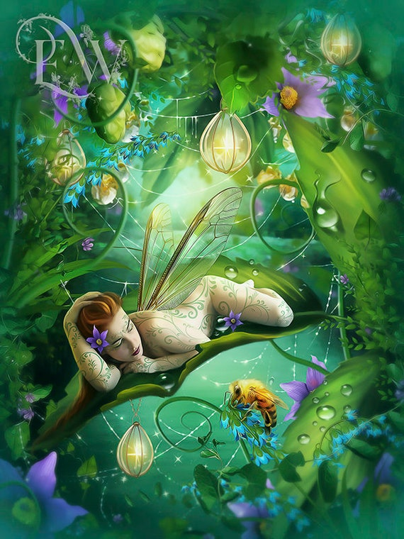 Fantasy fairie art print by Enchanted Whispers Art