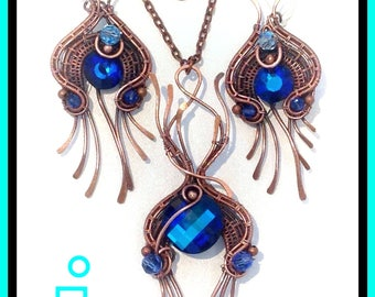 Dragon spots - Wirewrap, wireweave with weave tutorial