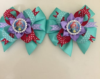 Little Mermaid Girl Hair Clips. Free Shipping.