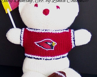 Bear, Arizona Cardinals Bear, Baby Boy Bear, Baby Shower Gift,  Birthday Gift, Keepsake Bear, Souvenir Bear, Father's Day, Graduation