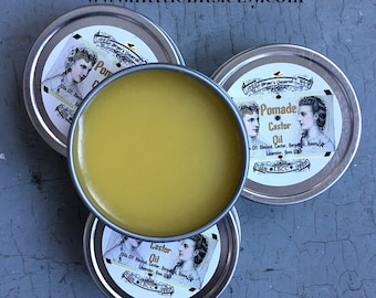 1869 Civil War Castor Oil Pomade Hair Wax, Gell, Pomatum, Vegetarian Pomade