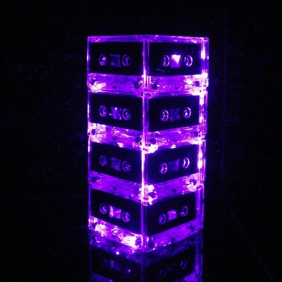 Corbett Lighting Party All Night: Repurposed Cassettes Mixtape Cassette Tape Night Light Mood