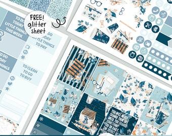 Planner Pack - KIT - PRINTABLE silhouette cut file , printable sticker planner,  printable planner stickers Erin Condren Life Planner