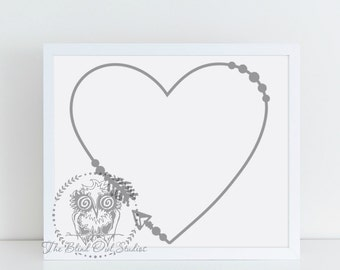 Arrow Heart Border