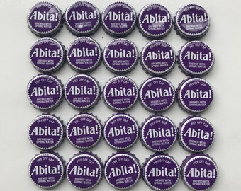 25 Count - Abita Beer (Purple) - recycled Beer Bottle Caps - Perfect for DIY Crafts and Art Projects