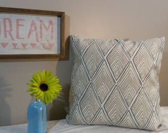 """Pretty Geometric Pillow Cover,Decorative Pillow Cover with beige and gray ,Throw Pillow by Pillow Worx """" 20""""x 20"""""""