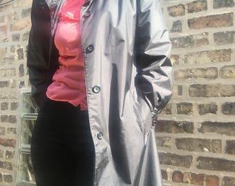Vintage 1980s Trench Coat | Vintage Raincoat | 80s Navy Coat | Vintage Rain Coat | Vintage | 80s | 1980s