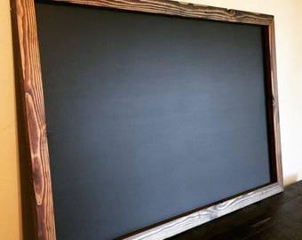 "Magnetic Chalkboard 24""x36"" Large Chalkboard, Magnetic Kitchen Menu Board, Framed Chalkboard, Big Chalkboard, Magnetic, Large Menu Board"