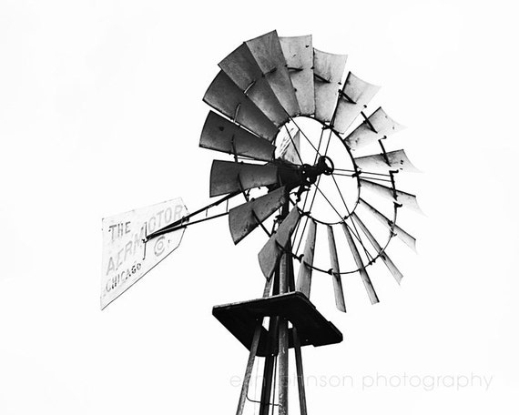 Line Drawing Windmill : Rustic windmill farm photography french country photograph