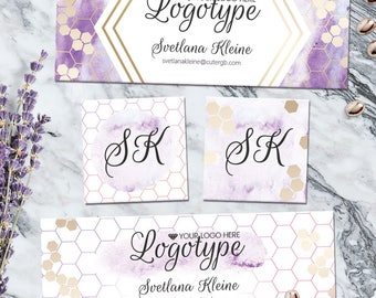 Piphany Facebook Cover, Purple Facebook Design, Piphany FB Cover, Facebook Graphic Set