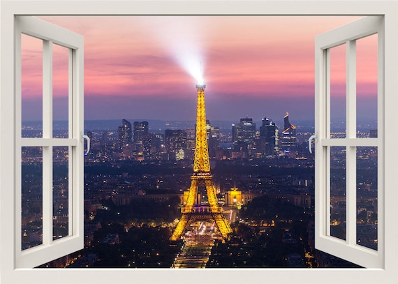 3D Eiffel Wall Decal Window by Styleyhomes