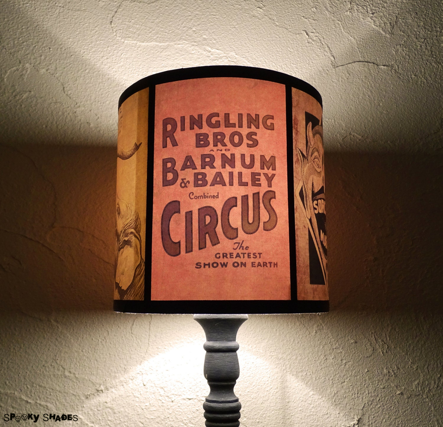 Circus lamp shade lampshade circus sideshow unique lighting zoom aloadofball Image collections