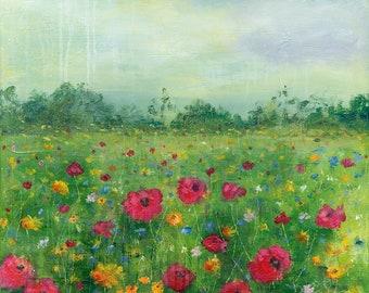 Greetings Card - Poppy Field