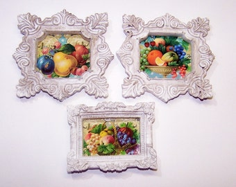 Artwork, Painting, Doll House, Miniature Artwork, Fruit, Watercolor, Home Decor, Wall Hanging, Shabby Chic, Toys, Art, Oil Painting, Pear