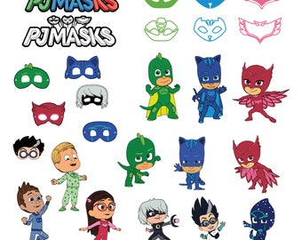 Pj masks Svg/Eps/Png/Jpg/Cliparts,Printable, Silhouette and Cricut File !!!