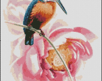 HUMMINGBIRD cross stitch pattern No.392