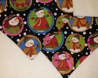 SALE! Snowmen Holiday Dog Bandana!!