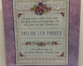 Mothers Day Gift,Proverbs 31 Sampler,Bucilla CrossStitch Kit,Mother Sampler,Counted Cross Stitch Kit,JaneChandler, Bucilla 43185, Needlework