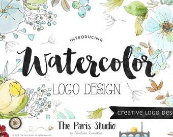 Benutzerdefinierte Logo-Design eCommerce Website Logo Blog Logo Boutique Logo Branding Business Logo Aquarell Vintage Retro Logo Hochzeit Monogramm-Logo