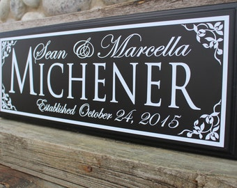 Wedding established sign-Wedding gift-personalized wedding gift-anniversary gift-established date sign-wedding plaque-couple gift idea