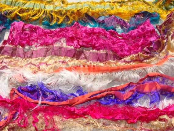 New Super Fancy And Fringy Wide Lightweight Sari Pieces 2