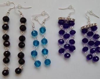 Minimalist string earrings