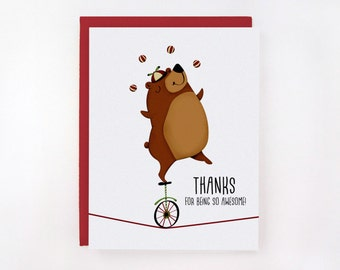 Thanks For Being So Awesome - Greeting Card