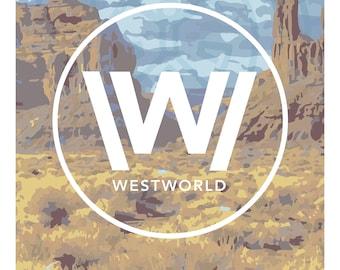Westworld Travel Poster