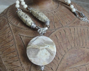 Natural Stone Necklace Set under 50
