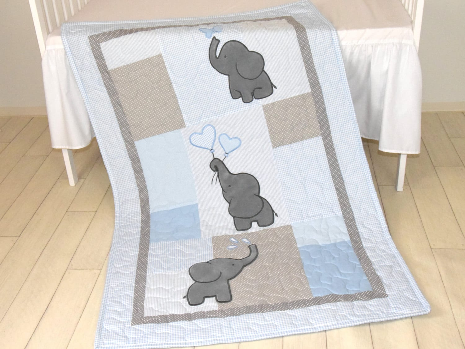 deer nursery woodland rag with heads quilt boy baby bedding and or silhoette a for room girl quilts stag