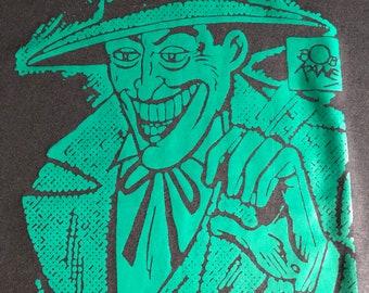 The Joker T-shirt image inspired by a Bob Kane drawing