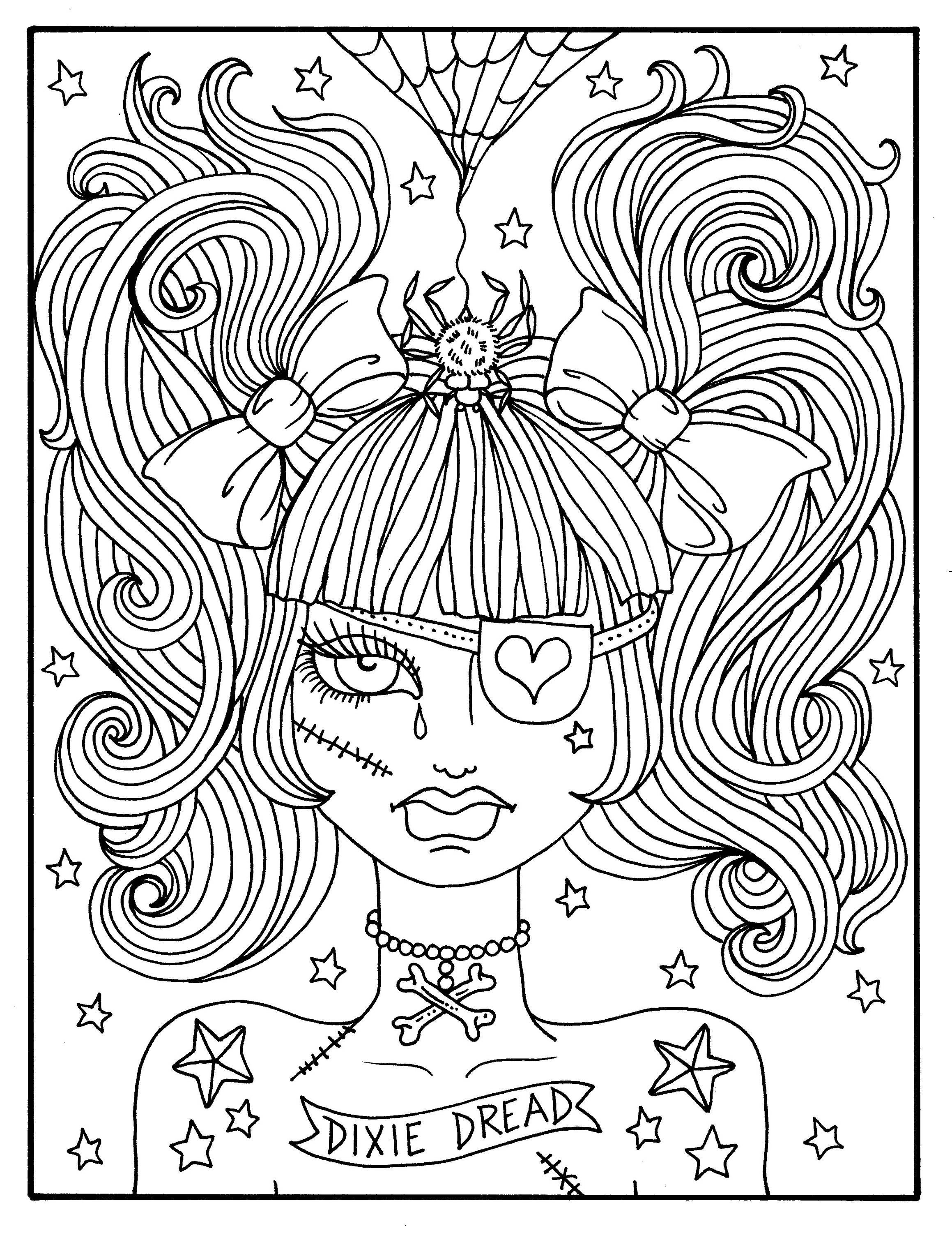 Dynamic image in spooky halloween coloring pages printable