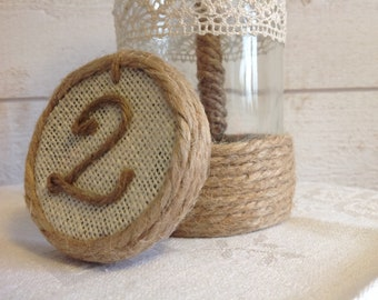 "Set of 6 numbers signs-table ""Country"" theme or other"