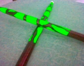 Neon Green Drumsticks Drum Sticks