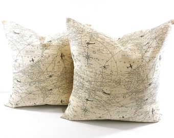 Map pillow case etsy gumiabroncs Choice Image