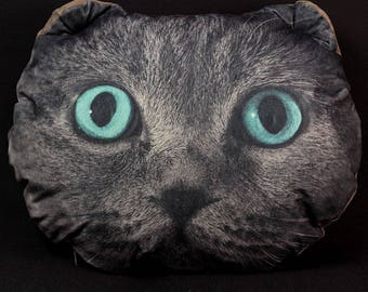 Cat Pillow  Decorative pillow Animal pillow Velours