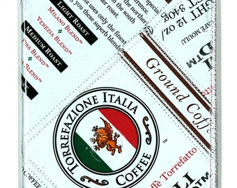 Passport Wallet from Recycled Torrefazione Coffee Bags