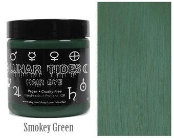 Smokey Grey Green Hair Dye