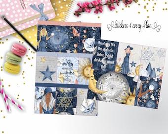 Zodiac Weekly Sticker Kit/ Erin Condren, Happy Planner, B6, Mini Kit