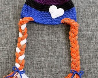 Frozen-inspired Anna Hat - Handmade to Order - Newborn to Adult